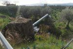Cassano allo Ionio, autovelox distrutto e sradicato dal terreno sulla statale 534