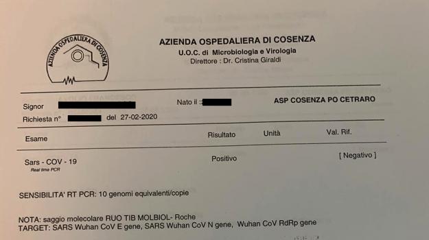 cetraro, coronavirus, Cosenza, Calabria, Cronaca