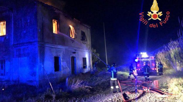 incendio, Catanzaro, Calabria, Cronaca