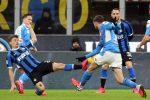 Coppa Italia, il Napoli batte l'Inter nell'andata della semifinale