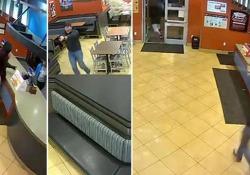 La sfortuna del rapinatore, quando tra i clienti ci sono due agenti fuori servizio Marito e moglie poliziotti sono intervenuti il 18 febbraio scorso in un fast food di Elizabethtown nel Kentucky - Corriere Tv