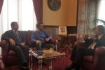 Sicilia, il governatore Musumeci riceve il leader della Lega Salvini a Palazzo Orleans