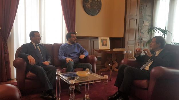 incontro, lega, regione siciliana, Matteo Salvini, Nello Musumeci, Sicilia, Politica