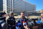 Matteo Salvini a Reggio (Foto di Attilio Morabito)