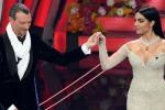 Sanremo 2020, terza serata del festival Alketa mitraglia. Georgina trasparente