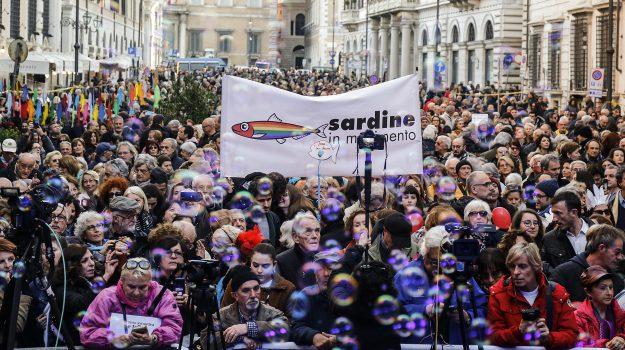 movimento 5 stelle, pd, roma, sardine, jasmine cristallo, Luigi Di Maio, Mattia Santori, Sicilia, Politica