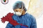 """Coronavirus, da Chiaravalle la dottoressa che """"culla"""" l'Italia: l'immagine è virale"""
