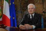 Mattarella, messaggio agli italiani: «Supereremo, assieme, questo difficile momento»