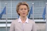 """Coronavirus, il videomessaggio della von der Leyen: """"Italiani non siete soli"""""""