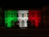 Messina, la facciata dell'Ateneo illuminata con il tricolore