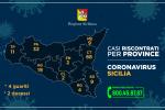 Coronavirus, in Sicilia 156 positivi: i casi nelle nove province