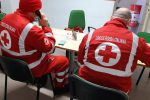I volontari della Croce Rossa al lavoro