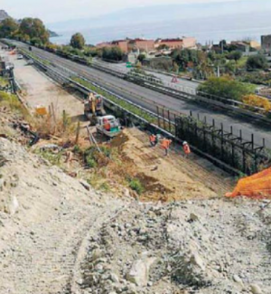 Letojanni, lavori per la frana sull'A18: approvati progetto e finanziamento