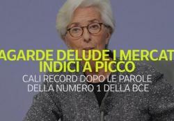 Lagarde delude i mercati, indici a picco Cali record dopo le parole della numero 1 della Bce - Ansa