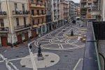 Corso Mazzini, isola pedonale all'altezza di piazza Kennedy a Cosenza