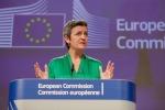 La commissaria Ue alla Concorrenza, Margrethe Vestager
