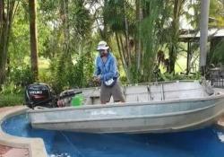 Andare a pesca con la barca durante la quarantena? C'è chi si attrezza così Il simpatico video arriva dall'Australia - Dalla Rete