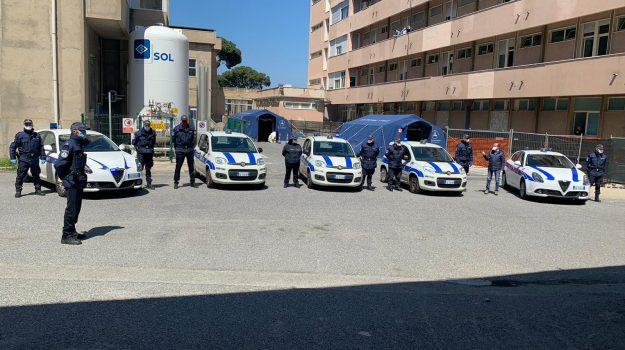 ospedale, polizia municipale, Reggio, Calabria, Cronaca