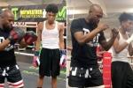 Quarantena con la boxe: Mayweather allena il figlio