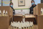 Falso gel igienizzante, sequestrati 6 mila flaconi a Messina e provincia: dodici denunce