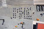 """Messina, a Piazza Cairoli la scritta umana """"#ripartodaMe"""" per sostenere l'economia"""
