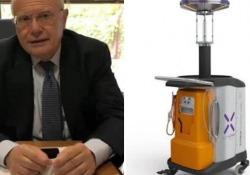 Coronavirus, ecco Light Strike: il robot che sanifica con i raggi ultravioletti L'apparecchiatura funziona con luce ultravioletta ad alta intensità e distrugge gli agenti patogeni - Corriere Tv