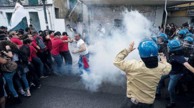 g7, manifestanti, scontri, Donald Trump, Messina, Sicilia, Cronaca