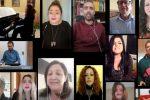 """Giornalisti calabresi cantano """"La donna cannone"""", l'omaggio ai cronisti del Coronavirus"""