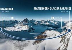 In funivia dall'Italia alla Svizzera: ecco la traversata record a 3.800 metri L'opera sarà pronta per la stagione sciistica 2021/2022. Collegherà i due Paesi in ogni periodo dell'anno - CorriereTV