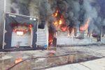 Le foto dell'incendio che ha distrutto lo stabilimento di nduja a Spilinga