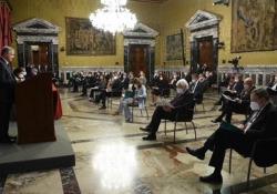Platea con la mascherina alla Relazione annuale della Banca d'Italia Il Covid cambia il 'rito' delle considerazioni del governatore - Ansa