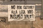 """""""No Beni culturali alla Lega"""", a Palermo striscioni di protesta contro Musumeci - Foto"""