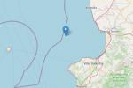 Terremoto di magnitudo 3.1 di fronte alla costa fra Amantea e Lamezia Terme