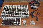 Dinami, in casa con piante di canapa e armi: arrestato un 35enne