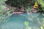 Papasidero, esercitazione nel fiume Lao per le unità Saf dei Vigili del Fuoco