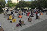 Messina, i ragazzi riempiono piazza Unione Europea per dire 'no' al razzismo