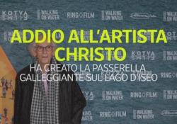 Addio all'artista Christo Ha creato la passerella galleggiante sul lago d'Iseo - Ansa