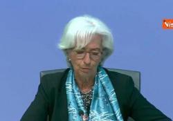 """Bce, Lagarde: """"Aumentiamo programma di acquisti Pepp di 600 miliardi"""" Le parole del presidente della Bce - Agenzia Vista/Alexander Jakhnagiev"""