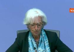 """Bce, Lagarde: """"Economia eurozona in contrazione senza precedenti"""" Le parole del presidente della Bce - Agenzia Vista/Alexander Jakhnagiev"""
