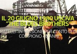 """Il 20 giugno 1980 usciva «The Blues Brothers» I fratelli in """"missione per conto di Dio"""" compiono 40 anni - Ansa"""
