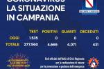 In Campania nessun nuovo caso di coronavirus e nessun decesso