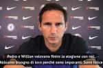 """Lampard: """"Contento per la firma di Pedro e Willian"""""""