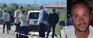 Il luogo dell'omicidio di Francesco Elia. A destra la vittima