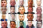 Le alleanze della mafia di Catania nel blitz con 20 arresti - Nomi e foto