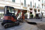 Voragine in via dei Mille a Messina, lavori conclusi ma la rete dei sottoservizi fa acqua