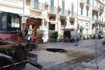 Voragine in via dei Mille a Messina, lavori in corso: chiuso un tratto di strada