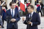 Sebastian Kurz e Emmanuel Macron