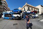 Camion bloccato sotto il ponte delle ferrovie a Messina, traffico in tilt nelle vie di Provinciale