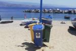 Messina, nella spiaggia di Ganzirri sparisce la mini isola ecologica: è stata rubata