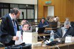 Gli avvocati Antonio Ingroia e Giuseppe Basile e il procuratore aggiunto Dda Reggio, Giuseppe Lombardo